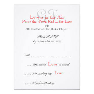 "Girl Friends Night Out RSVP Cards 2 4.25"" X 5.5"" Invitation Card"