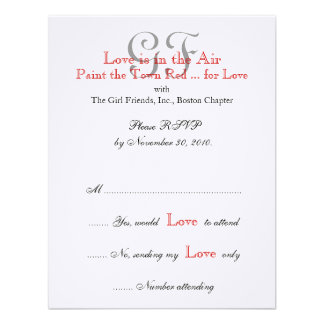 Girl Friends Night Out RSVP Cards 3 Custom Invitation
