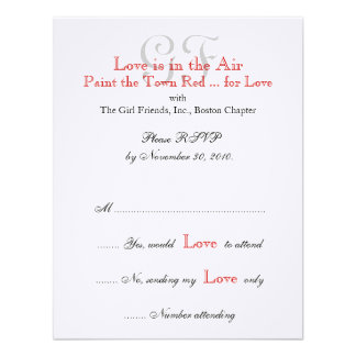 Girl Friends Night Out RSVP Cards Custom Invitation