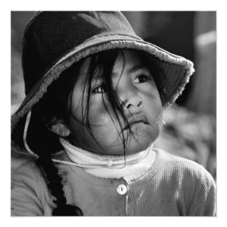 Girl from Titicaca 2 Photo Print