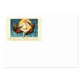 Girl Full Moon Demon Bat Stars Business Card Templates