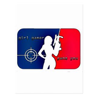 Girl Gamer Pwns You! Post Cards