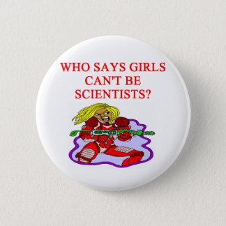 girl geek scientist 2 inch round button