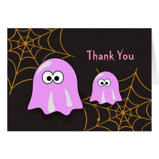 Girl Ghost Halloween Baby Shower Thank You Cards