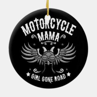 Girl Gone Road Ceramic Ornament