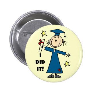 Girl Graduate 2 Inch Round Button