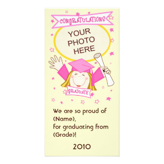 Girl Graduate Kindergarten / Preschool Photo Card
