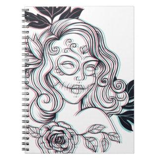 girl graphic illustration notebooks
