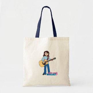 Girl Guitar Player Canvas Bag