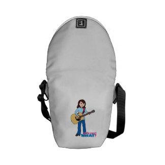 Girl Guitar Player Messenger Bags