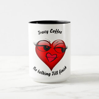 Girl Heart With Big Eyes Mug