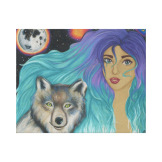 Girl & Her Wolf Canvas Print