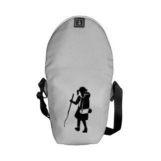Girl Hiking Messenger Bags