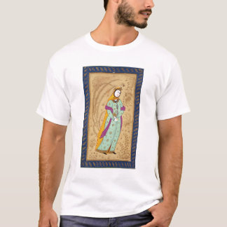 Girl holding a wine vessel and a pear, from the La T-Shirt