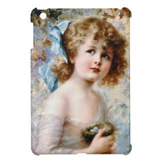 Girl Holding Bird Nest iPad Mini Case