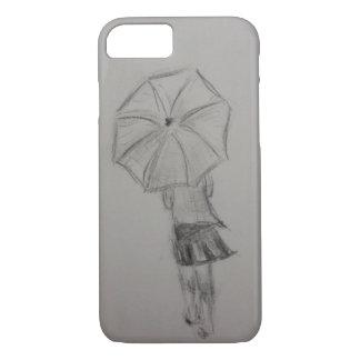 Girl holding umbrella phone case