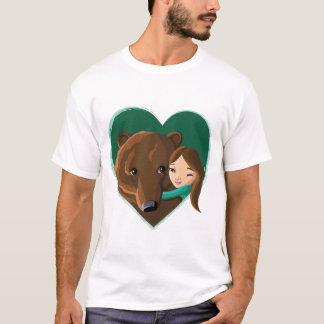 Girl Hugging Bear T-Shirt