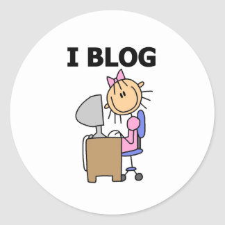 Girl I Blog  Classic Round Sticker