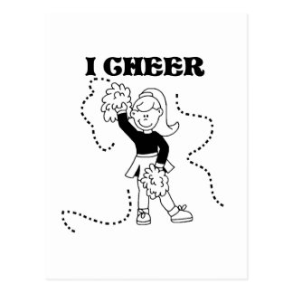 Girl I Cheer Tshirts and Gifts Postcard