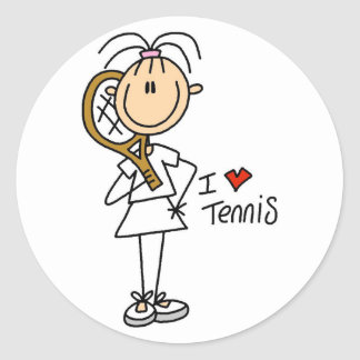 Girl I Love Tennis Stickers