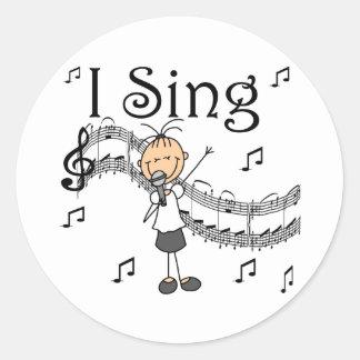 Girl I Sing Stickers Sticker