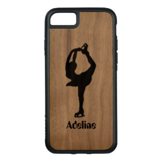 Girl Ice Skating Figure Skating Personalized Carved iPhone 8/7 Case