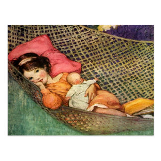 Girl in a Hammock by Jesse Willcox Smith Postcard