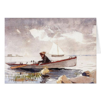 Girl in a Punt Greeting Card