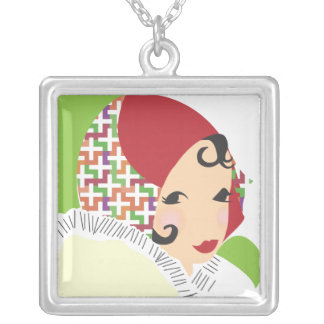 Girl in a Red Hat Necklace