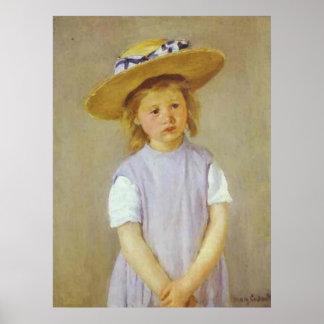 Girl in A Straw Hat Mary Cassatt Print