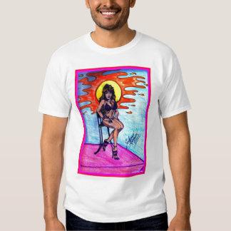 Girl in bikini tshirts
