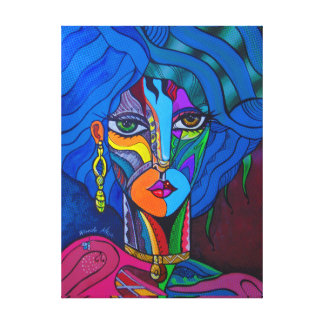 Girl in blue. canvas print