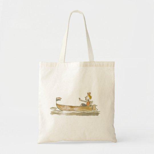Girl in boat tote bag