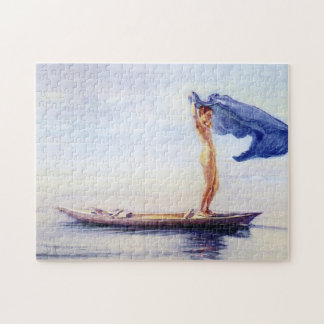 'Girl in Bow of Canoe' - John La Farge Jigsaw Puzzle