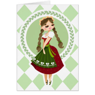 Girl in Dirndl Card