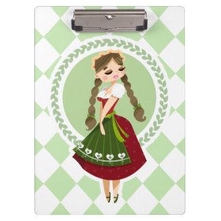 Girl in Dirndl Clipboard