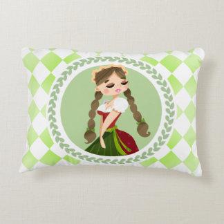Girl in Dirndl Decorative Pillow