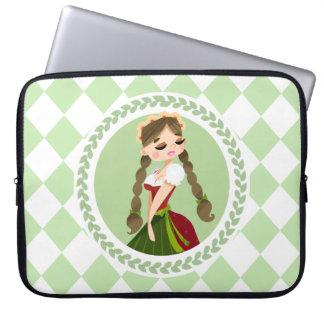 Girl in Dirndl Laptop Sleeve