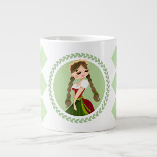 Girl in Dirndl Large Coffee Mug