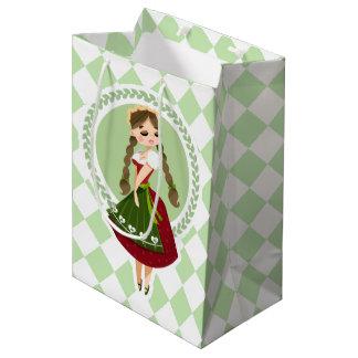 Girl in Dirndl Medium Gift Bag