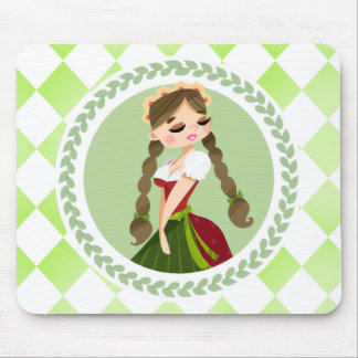 Girl in Dirndl Mouse Pad