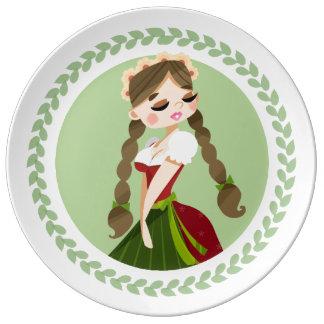 Girl in Dirndl Plate