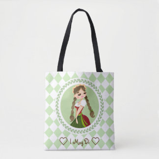 Girl in Dirndl Tote Bag
