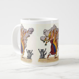 Girl in Flames from Struwwelpeter Large Coffee Mug