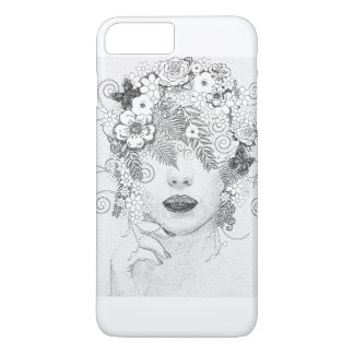 girl in flower iPhone 8 plus/7 plus case