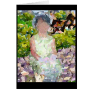Girl in Garden Card