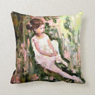 Girl In Garden Throw Pillow