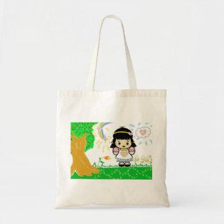 Girl in Garden tote bag