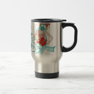 Girl in Gasmask Allergy2 Travel Mug