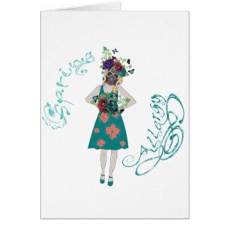 Girl in Gasmask Allergy Card
